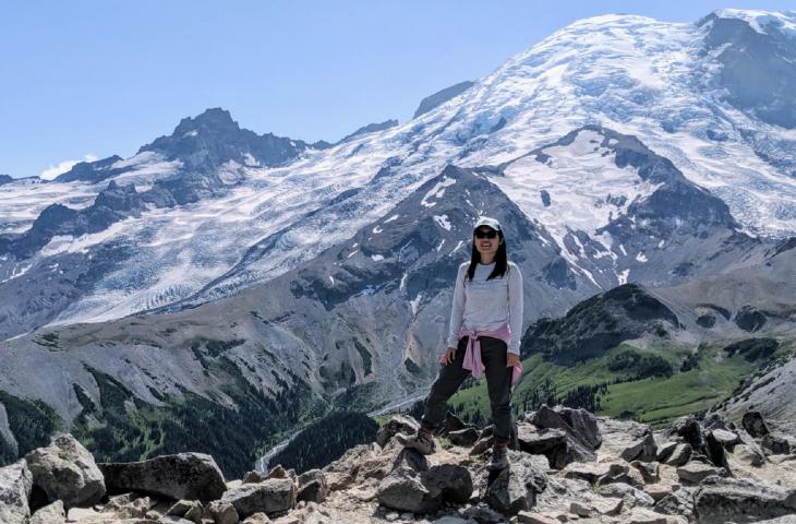 Xujing Wu at Mt. Rainier