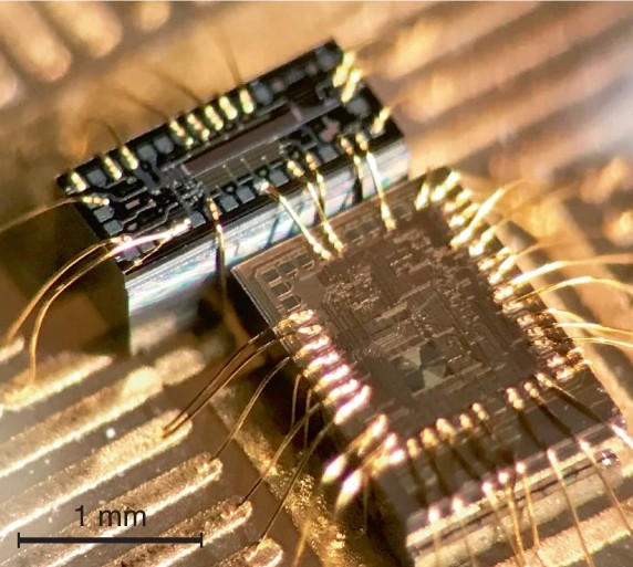 Close up image of filter chip in laser