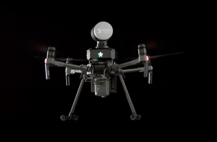 An Exyn quadrotor in midair