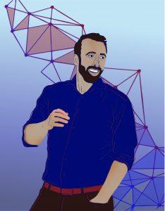 An illustration of Nikolai Matni by Melissa Pappas