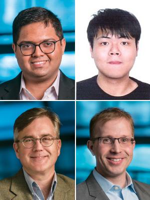 Deep Jariwala, Xiwen Liu, Troy Olsson and Eric Stach, clockwise from upper left.