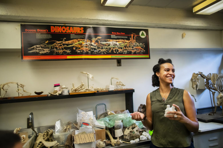 Aja Carter in her lab.